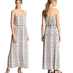 Vince Camuto snakeskin print satin maxi dress